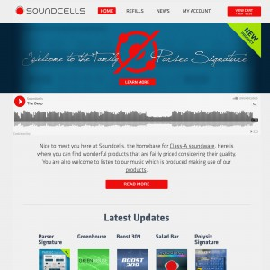 soundcells-de Website im Februar 2015