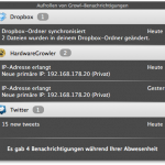 Screenshot des neuen Growl-Notification Centers