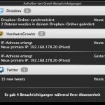 Screenshot des neuen Growl-Notification Centers