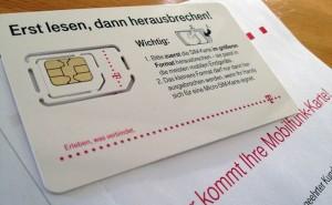 Die neue T-Mobile-SIM-Karte