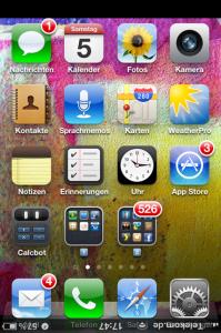 Das iPhone steht Kopf